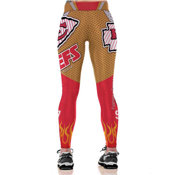 Unisex Football Team Chiefs 97 Print Tight Pants Workout Gym Training Running Yoga Sport Fitness Exercise Leggings Dropshipping 1