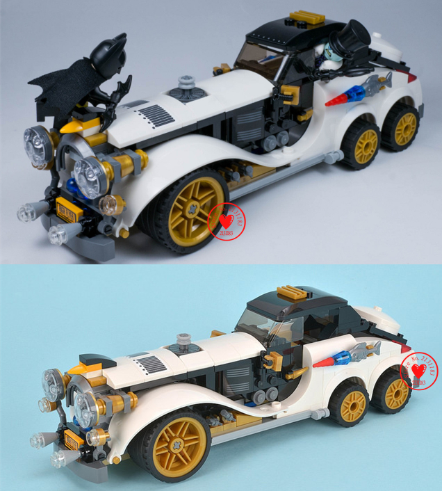 07047 Genuine Batman Series Arctic War Penguin Classic Car Set Building Blocks Bricks Toys compatiable with lego kid gift set