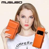 Musubo Moda Menina Saco Do Telefone estojo De Couro Para Huawei Honor 9 8 Lite 6 Mulheres de Luxo Bolsa Carteira Capa para P9 P10 Plus Companheiro 10 9