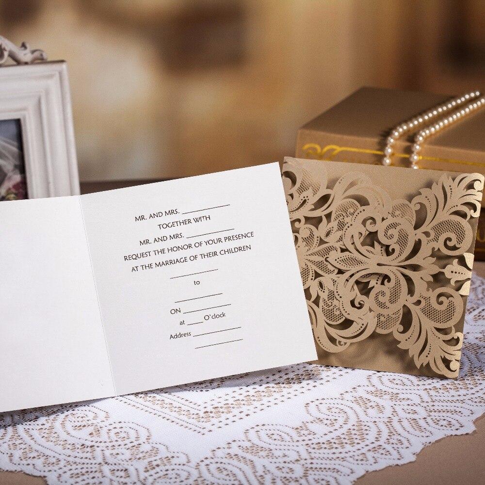 WISHMADE Hot Sale Laser Cut Copper Wedding Invitation Card in Gate ...