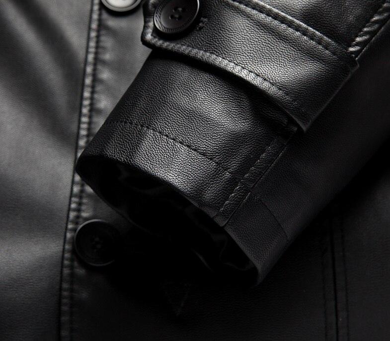 6699 Mäntel Schaffell Jacke Leder Winter Kleidung Männlichen Padded Lange Mantel Unten Schwarzes Neue Echtes Männer rIRq0r