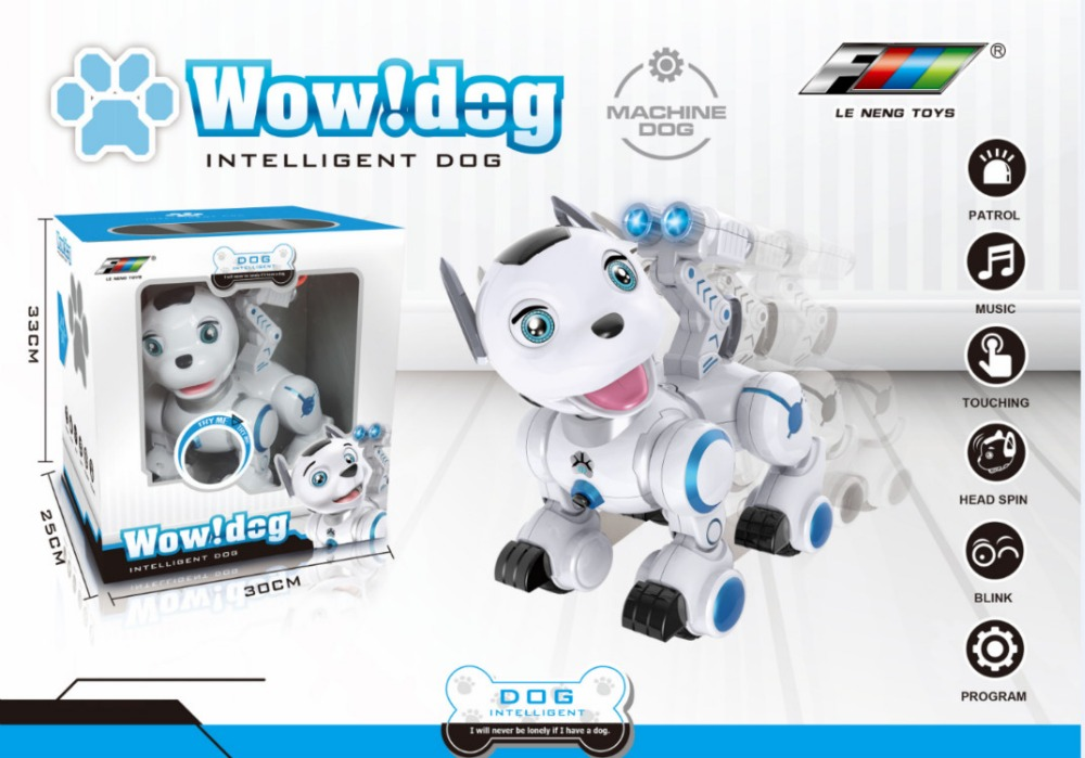 Child Rc toys Electronic Early Educational Pet Dog Intelligent RC Smart Robot Dog Toy with Dancing Winking for Kid Birthday Gift