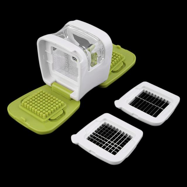 1PC Multifunction Plastic Garlic Press Presser Crusher Slicer Grater Dicing Slicing and Storage Kitchen Vegetable Tool