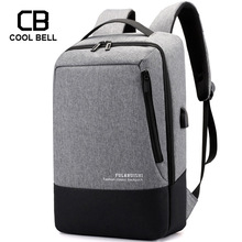 Купить с кэшбэком Business Men Backpack Large Capacity USB Charging Waterproof Men Backpack Sports 15.6 inch Laptop Backpack School Travel Bags
