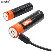 18650 Батарея li-ion 3,7 В USB Перезаряжаемые батареи 18650 2600 мАч фактические высокое Ёмкость Micro USB DC-зарядки интеллектуальных мобильных
