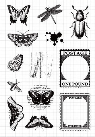 YPP CRAFT Insects Transparent Clear Silicone Stamps for DIY Scrapbooking/Card Making/Kids Fun Decoration Supplies