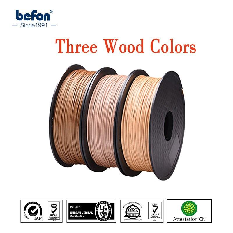 Pla filamento de madera 1.75mm para 3D impresora 0.8 kg efecto madera 3D pringting material plástico de alta calidad 3D consumibles materiales