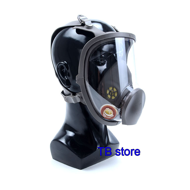 Image 5 - 6800 Gas mask high quality Full face respirator Spray paint pesticide  protective mask Can cooperate with 3M / SJL filter-in Masks from Security & Protection