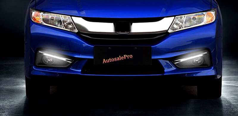 For Honda City 2014 2015 2016 Front Daytime Running Lights Fog Light Accessories Exterior LED 2015 2016 2015 2015