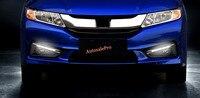 For Honda City 2014 2015 2016 Front Daytime Running Lights Fog Light Accessories Exterior LED