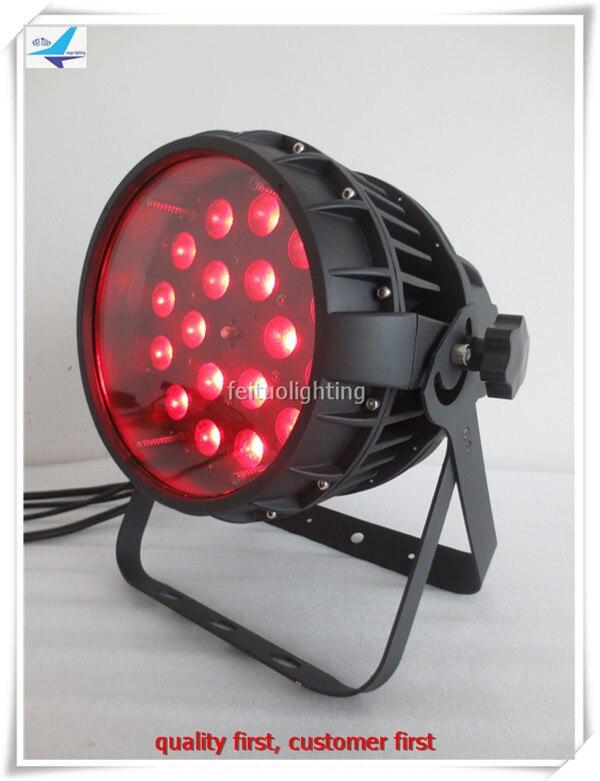 2pcs/lot Stage Zoom LED Par Lights 18pcs LED 18W Outdoor Wash Lumiere RGBWA UV 6IN1 Strobe Power Zoom 18x18w Disco Party Par Can