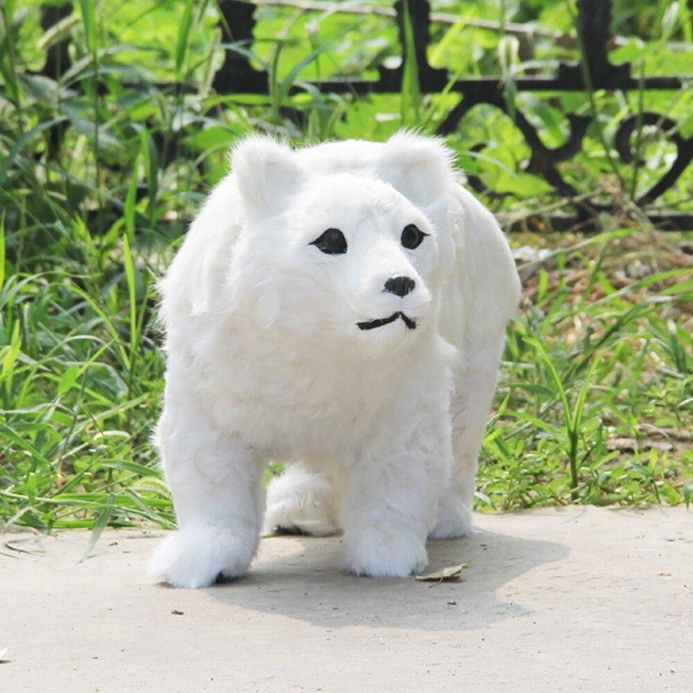 Simulation créative ours jouet polyéthylène & fourrures blanc ours modèle poupée environ 48x30 cm 2500
