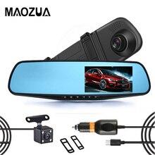 Maozua FHD 1080P Dash Cam Car Dvr Camera Auto 4.3 Inch Rearview Mirror Digital Video Recorder Dual Lens Registrator Camcorder 4 3 inch fhd 1080p video recorder dash cam rearview mirror car camera dvr digital video recorder 170 degree