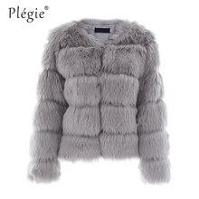 Plegie Fluffy Faux Fur Coat Women Short Furry Fake Fur Winter Outerwear Warm Coat 2018 Autumn Casual Party Overcoat Female