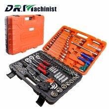 DR. Maschinist 121 stücke Stahl Steckschlüsselsatz Auto Repair Tool CRV Ratsche Schraubenschlüssel Schraubenschlüssel Buchse Schraubendreher-bits