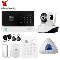 Android IOS APP Wireless Wifi Security System Touch Screen Wireless Gsm Home Alarm System With IP
