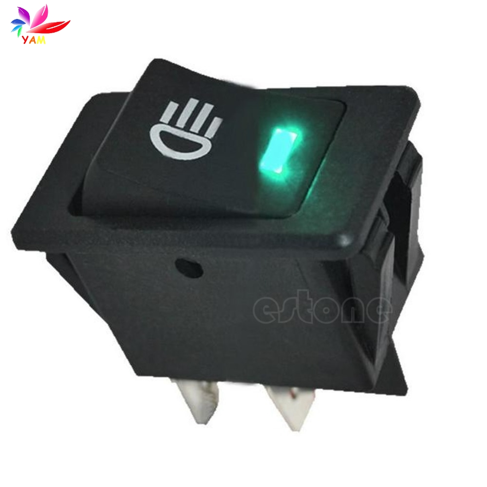 12 V vehicle car boat fog light led rocker switch dash dashboard green 4-pin-15 5pcs lot 15 21mm 2pin spst on off g133 boat rocker switch 6a 250v 10a 125v car dash dashboard truck rv atv home