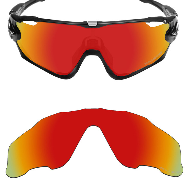 03a4f5fce42 Mryok+ POLARIZED Resist SeaWater Replacement Lenses for Oakley Jawbreaker  Sunglasses Fire Red