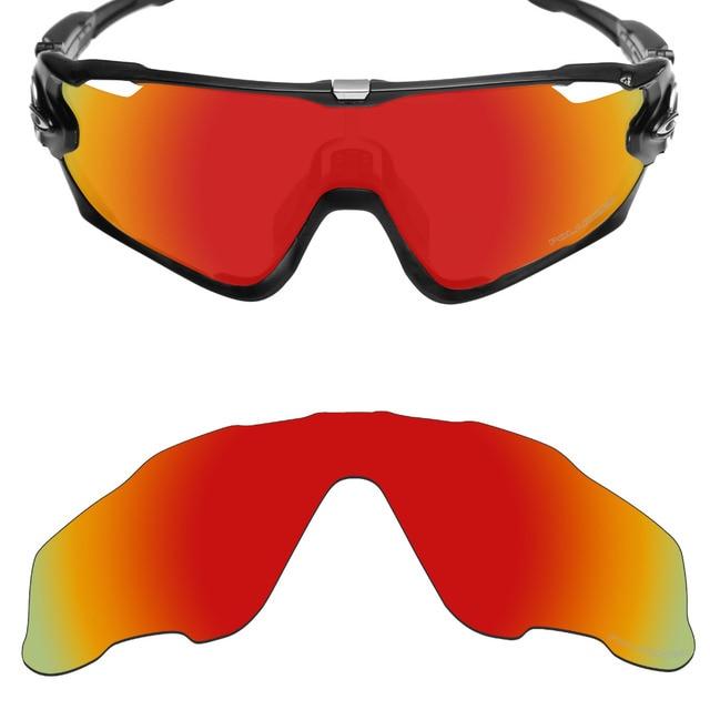 5646fcf012 Mryok+ POLARIZED Resist SeaWater Replacement Lenses for Oakley Jawbreaker  Sunglasses Fire Red