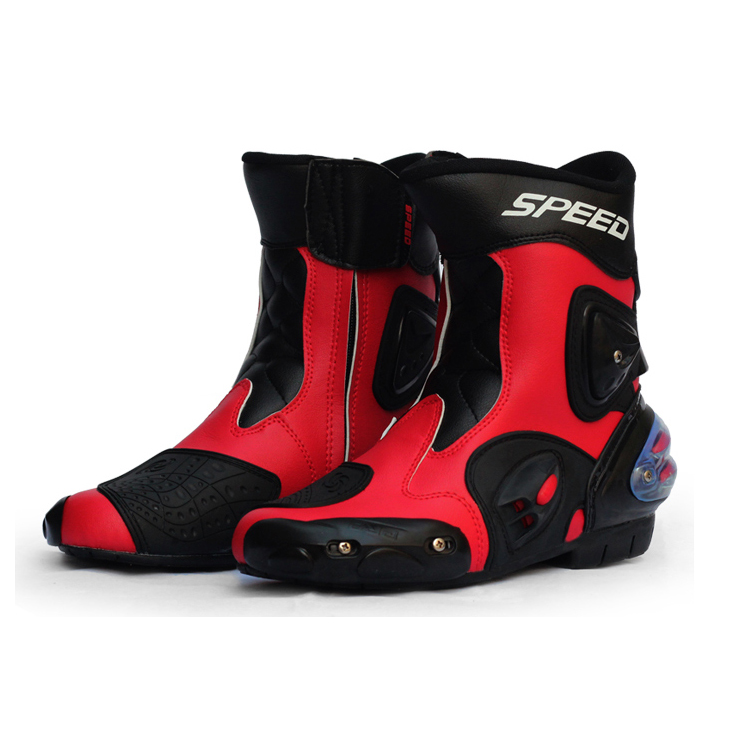 Pro-Biker Professional Knight Speed Boots For Motorcycle Leather Motorbike Motocross Racing Road Riding Protective Gears Shoes outdoor sport motorcycle mircrofiber leather boots pro racing riding boots motorbike motocicleta wear resistant motorcycle boots