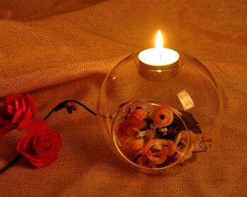 Gran oferta, decoración romántica PARA CENA DE BODA, candelabro colgante de cristal transparente clásico para candelabro 2019