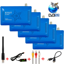 Mini HD/SD DVB-S2 Digital Satellite Receiver TV Tuner + Wifi Antenna Support Two USB Host IKS CS Cccam Newcam Biss key Youtube