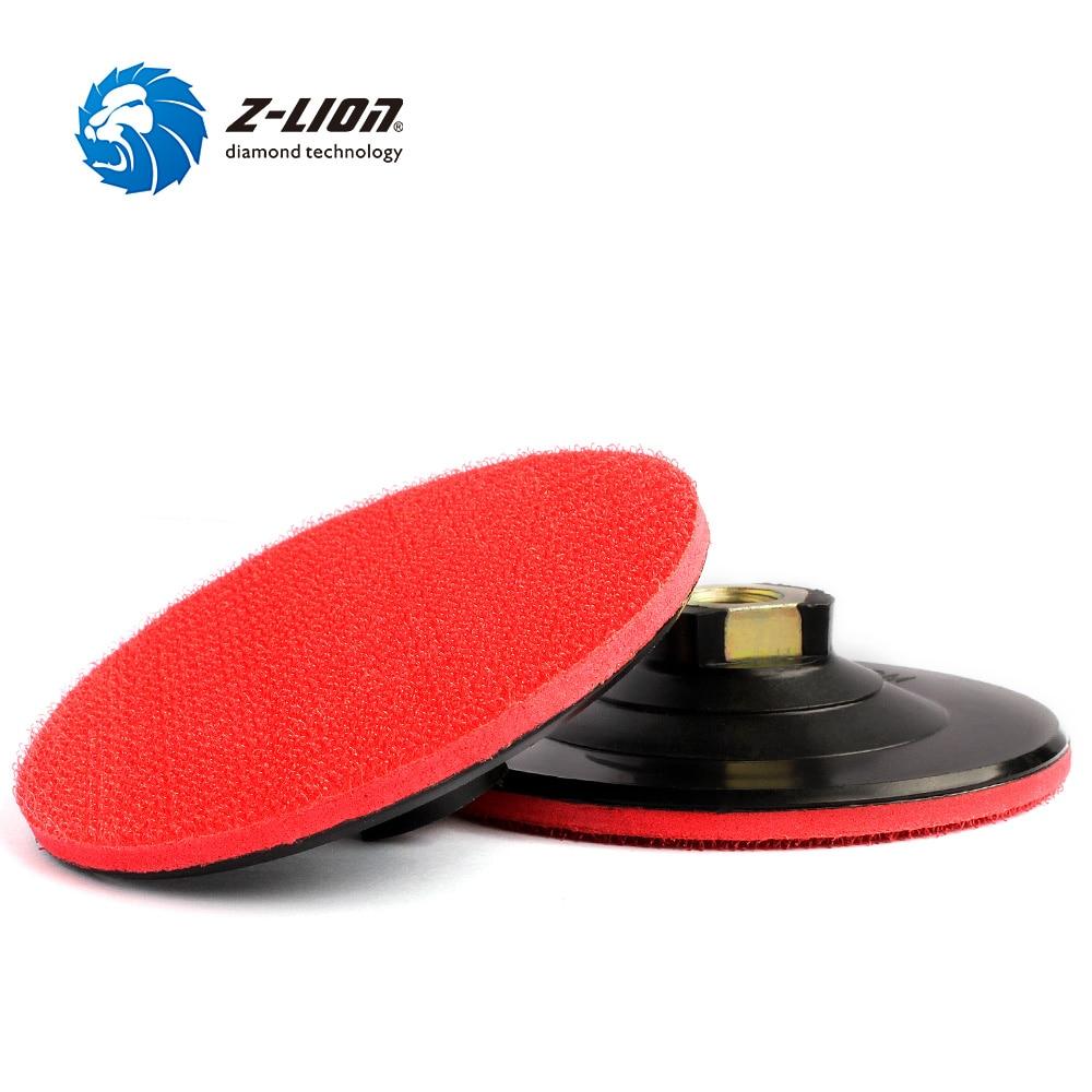 Z-LION 2 Pcs 4 Inch Plastic Backer Pad M14 Thread Backing Pad With Hook & Loop Abrasive Tool Diamond Polishing Pads Holder