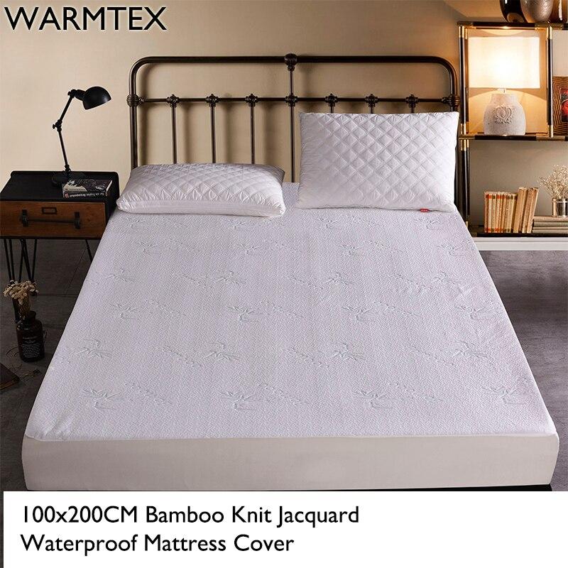 WARMTEX 100x200CM Bamboo Fiber Jacquard Waterproof Mattress ProtectorDust Mite Cover 100% Waterproof Mattress Cover W014
