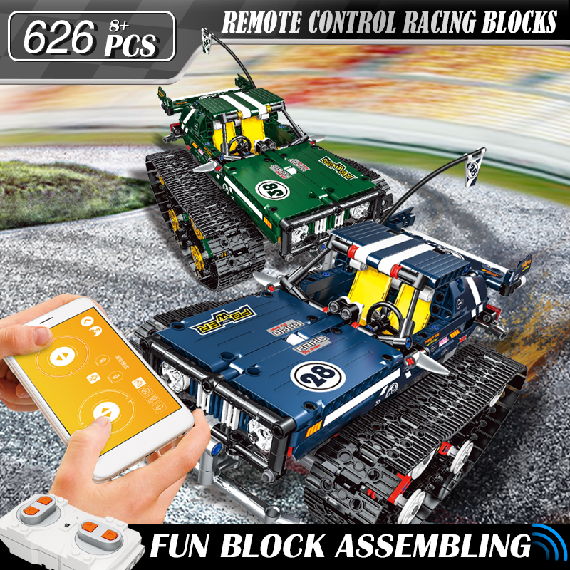 Technic RC car Remote Control sport Race suv Building Blocks set Compatible Legoed Tracked Educational Bricks