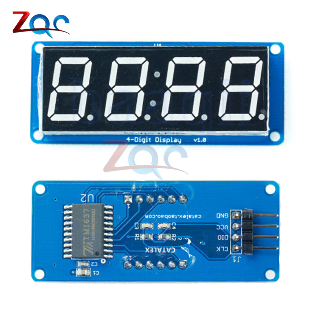 Standard LED 4-Digit 0.56 Tube Display Clock (D4056A) Module with Decimal Point for Arduino 0.56 inch
