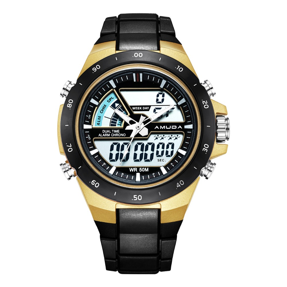 Amuda Men Quartz Wristwatches Fashion Sport Watch Auto Date Waterproof Clocks Relogio Masculino Male Watches AM5010 2018 baogela men fashion casual leather band quartz watch male sport wristwatches waterproof watches relogio masculino