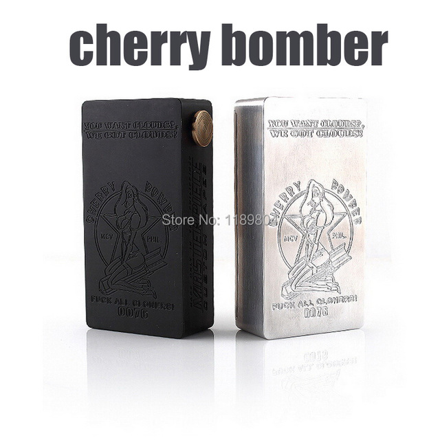 5 pcs 2017 new product best selling mechanical mod cherry bomber box mod clone
