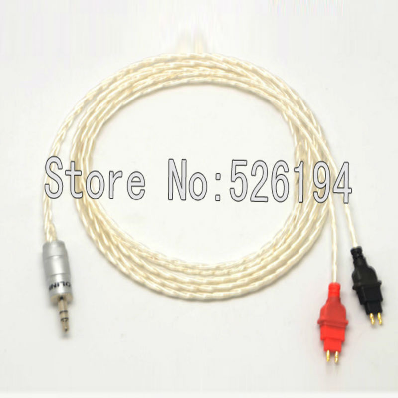 Free shipping 1.2M/pieces OFC Silver Plated Headphone Cable for HD580 HD600 HD650 Headphone 1 5m hd580 hd600 hd650 headphone cable 3 5mm plug