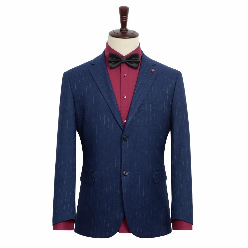 2019 frühjahr Neue männer Casual Anzug Hochzeit Abendkleid Jacke Blau Streifen Blazer Männlichen Große Größe Kleidung 6XL 7XL 8XL 9XL-in Blazer aus Herrenbekleidung bei  Gruppe 2