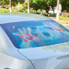 AUMOHALL 3D Transparent Car Rear Windshiled Horror Sticker Auto Halloween Monsters Decal Vinyl Animal Stickers