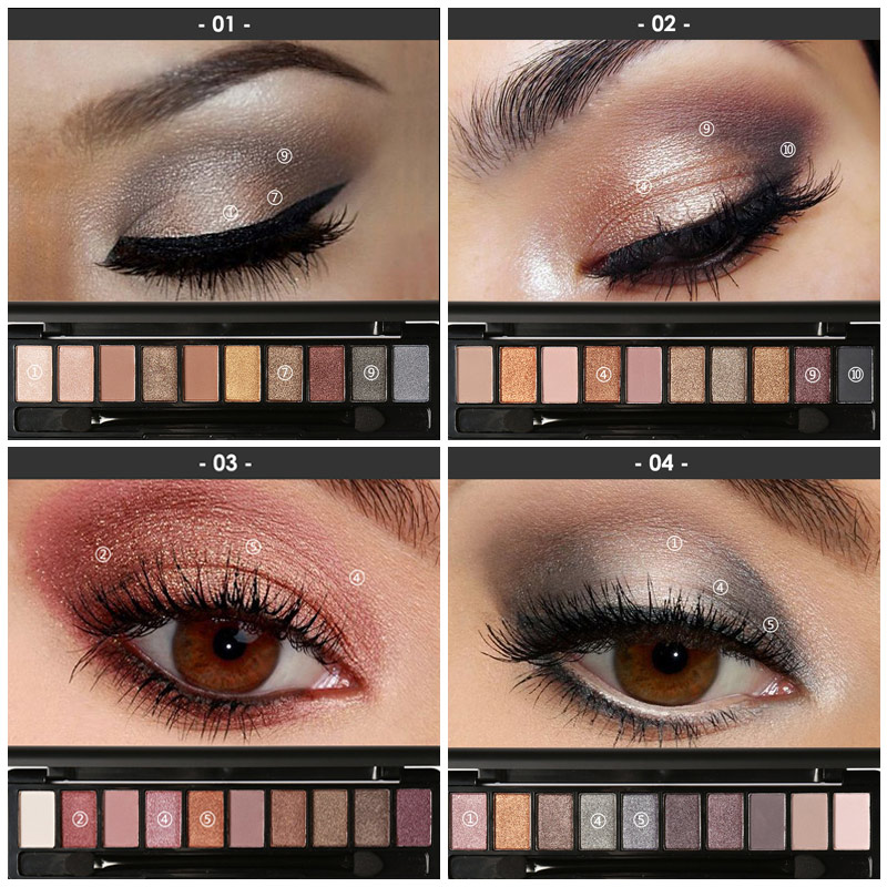 Aliexpress Buy Focallure 10 Colors Naked Eye Shadow Palette
