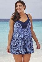 TCBSG Blue Print Bikini Set Strappy Women S Swimsuit Tankini Plus Size Halter Top Swimwear Trunk