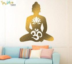 BUDDHA Buddhism Religion Removable  Wallpaper Vinyl Decal Sticker Window Wall  Lotus Om Symbol God Buddhism Yoga decor