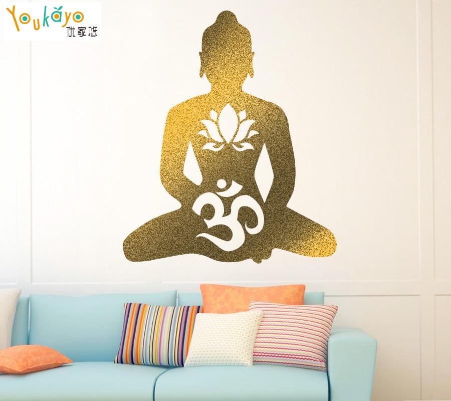 BUDDHA Buddhismus Religion Abnehmbare Tapete Vinyl Aufkleber Aufkleber Fenster Wand Lotus Om Symbol Gott Buddhismus Yoga decor