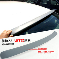 Car Styling For Audi A5 Coupe 2Door 2008 2016 Auto Part ABS Plastic Unpainted Primer Rear Trunk Boot Wing Spoiler Accessories