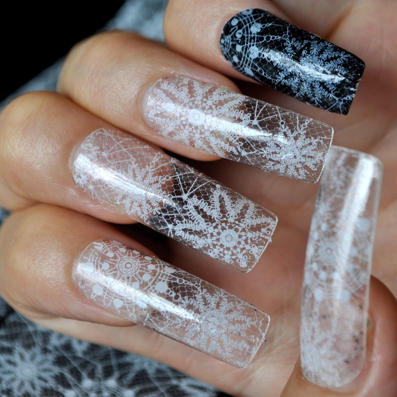 Nail art Transferfolie Nagel abziehbilder Tipps Maniküre DIY ...