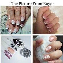 Здоровый Белый лак для ногтей для французского маникюра УФ светодиодный Гель лак для макияжа