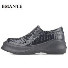 Известный дизайнерский бренд, натуральная кожа, толстая подошва, платформа, белая повседневная обувь, Chaussure, мужская плоская форма, дешевая обувь на платформе для мужчин
