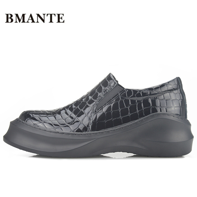Здесь продается  Famous designer brand real leather thick soles platform white casual footwear Chaussure Male flatform cheap plateau shoes for me  Обувь
