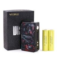 Authentic Voopoo drag 157w black resin mod 157 w TC electronic cigarette vape with 2 pcs HE4 2500mAh Li lon Battery 3.7V Power