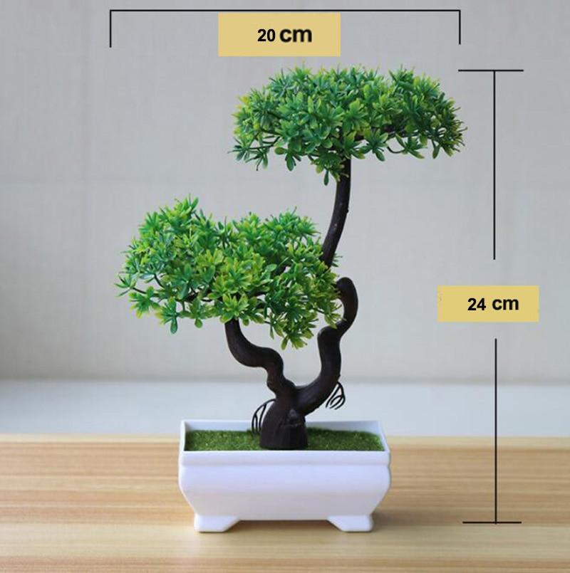 Colorful Artificial Plants Bonsai Small Tree Pot Plants Fake Tree For Home & Garden Decoration #04 流水 盆 養魚