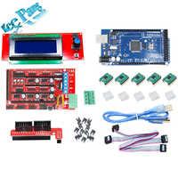 1pcs Mega 2560 R3 + 1pcs RAMPS 1.4 + 5pcs A4988 Stepper Driver Module +1pcs 12864 Controller 3D Printer Board Parts kit Part Set