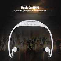 5PCS Wireless Portable MP3 Sports Music Player with TF Card Slot Headphone Music Running Earphone Headset MP3 Wholesale