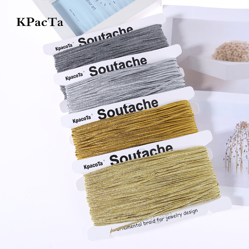 KPacTa Multiple Colour 34 Yard(31 Meters) Chinese Soutach Color Ethnic Snake Belly Cord DIY Jewelry Braided Accessories Material