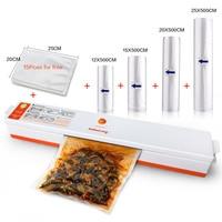 Household Food Vacuum Sealer Packaging Machine Film Food Saver Bags 12 15 20 25x500cm With 15pcs